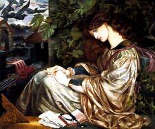 LA PIA DE TOLOMEI WOMAN IMPRISONED BY HUSBAND IN A CASTLE BY ROSSETTI REPRO
