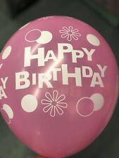 "12"" Happy Birthday Print BalloonsFor Birthday Parties Kids Party helium/air balo"