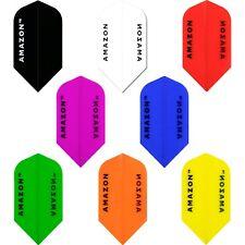 Amazon Transparent Dart Flights 1-10 Sets Slim Tough Plain Colours Thick