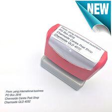23 x 56mm Personalised Custom Business Name Address Flash Stamp Self Inking
