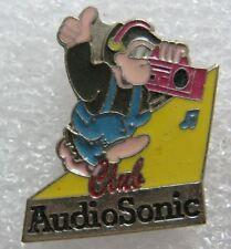 Pin's Club AUDIO SONIC avec Animal un singe casque radio #C5