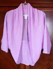 NEW! Women's Top Gossamer Crinkled Shrug white, black, teal, navy, lilac... S-3X