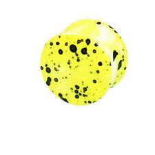1 Paar Acryl Plugs Gelb mit schwarzen Flecken Kunststoff Ohr PIERCING 10-16mm