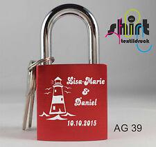 AG 39 Liebesschloss Leuchtturm Namen Name Datum Lasergravur Gravur