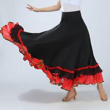 Latin Rumba danse jupe moderne Valse Cha Tango Flamenco salle de bal TENUE