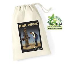 Personalised Golf Ball Bag Tee Bag Parwars design Brother Dad Mum Birthday Gift
