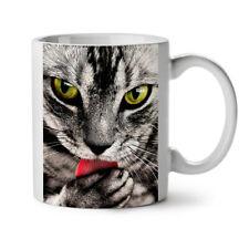 Cat Lick Paw Animal NEW White Tea Coffee Mug 11 oz   Wellcoda