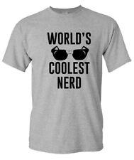 WORLD'S COOLEST NERD Funny Geek Glasses Gamer Programmer Bad Ass Men's T-Shirt