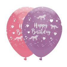 unicornio DESTELLOS Mágico Feliz Cumpleaños globos fiesta rosa y morado Helio