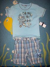 Calvin Klein 2pc Short Set Baby Boy Toddler Boy 12 Mos 4T Rock Roll Rowdy Rebel