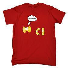 MI sento Abbellito Pasta Da Uomo T-shirt Tee Regalo di Natale cibo Cartoon Divertente Simpatico