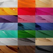 Schrägband 14 mm 1,4 cm Baumwolle gefalzt Einfassband Farbwahl Saum Einsäumen