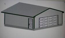 24' x 22' Garage Shop Plans Materials List & Blueprints