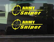 ARMY SNIPER VINYL DECAL / STICKER PAIR