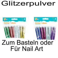 Glitzerpulver 4 Farben Mix Glitter Glimmer Dose Puder Deko Nail Art Basteln 46g