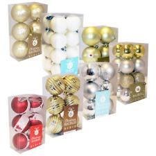 6 X ALBERO DI NATALE PALLINE: 7 stili (Festive Decorazione Natale Ornamento Display)