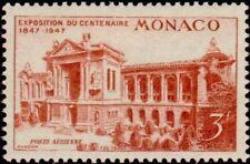 "MONACO AERIEN N°24 ""TIMBRE AMERICAIN, MUSEE OCEANOGRAPHIQUE, 3 F"" NEUFxxTTB"