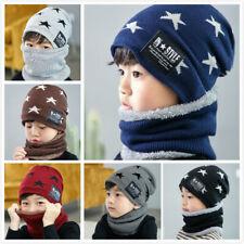 Youth Kids Enfants garçons filles hiver Toison Cou Warmer Écharpe Tube Snood Caps