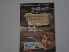 advertising Pubblicità 1973 NESTLE' GALAK