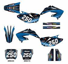 CR 125 250 Honda graphics 2002 2003 2004 2005 2006 - 2013 decal kit #3333 Blue