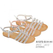 Mädchen Sandalen Sommer Sandaletten mit Strasssteinen und Glitzer