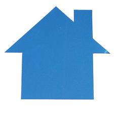 House Cutouts Plastic Shapes Confetti Die Cut FREE SHIPPING