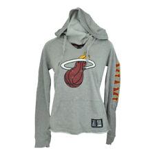 NBA Unk Miami Heat Ladies Women Distressed Hoodie Rhinestone Hooded Sweater Grey