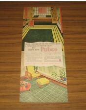 1947 Vintage Ad Pabco Linoleum Floors and Printed Floor Coverings Paraffine Co.