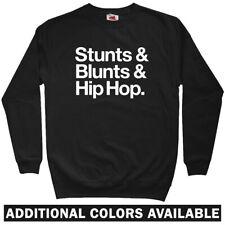 Stunts Blunts Hip-Hop Sweatshirt Crewneck - Rap Music DJ NYC B-Boy - Men S-3XL