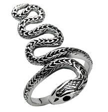 925 ECHT SILBER *** Onyx Ring Schlangenring, Größenauswahl