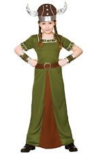 VIKING Principessa Ragazze Costume Norse VICHINGHI Vestito età 5-10