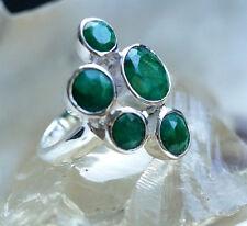 Handarbeit Design Ring 52 54 57 Silber Silberring Modern Saphir Blau Facettiert