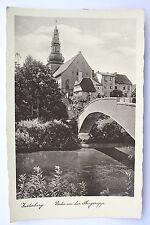 13210 AK Insterburg Partie an der Angerapp Brücke Kirche um 1935