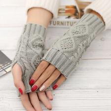 Spring Warmer Winter Long Unisex Women Men Knitted Arm Gloves Fingerless Xmas!