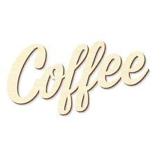 """Schriftzug """"Coffee"""" in Sperrholz natur in verschiedenen Längen und Schriftarten"""