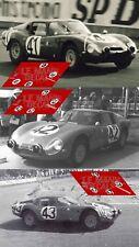 Calcas Alfa Romeo TZ2 Le Mans 1965 41 42 43 1:32 1:24 1:43 1:18 slot decals
