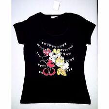 DISNEY t-shirt top femme MINNIE DAISY noir 34/36 38/40 42/44 46/48 fêtes NEUF