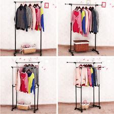 Penderie à Vêtements Mobile Portant vêtement Télescopique Portemanteau Réglable