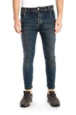 Pantaloni Daniele Alessandrini Trouser -60% Uomo Blu PD4912L4453107-1111 SALDI