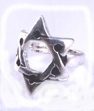 Star Of David Magen Judaica Silver Ring Kabbalah Gift Jewish Israel Merkaba 3 D