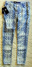 Rock & Republic Mid Rise Snakeskin Berlin Skinny Jeans Cotton Blend - CL360