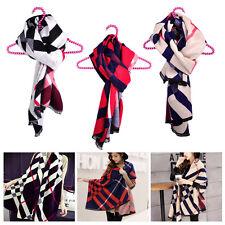 Women Lady Soft Large Long Imitate Cashmere Scarf Shawl Stole Wrap Winter Warm