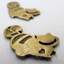 Cheshire Cat Alice In Wonderland Antiqued Bronze Pendants C5862 - 5, 10, 20PCs