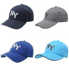 No Fear New York Baseball Cap Peaked Hat NEW Mens Grey Navy Cap NY City