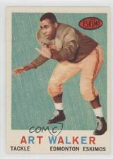 1959 Topps CFL #42 Art Walker Edmonton Eskimos (CFL) Rookie Football Card