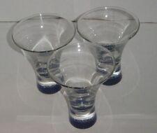 Set of Three/3 Bacardi Vanila Rum Stylish Stemless Shot Glasses with Bat Logo