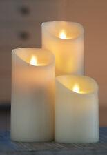 Flammenlose LED Kerze bewegliche Flamme Twinke Flame Ø8,9cm 5 Std TIMER-wie echt