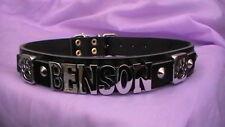 Haute qualité personnalisé chien collier en cuir véritable, tout nom ou couleur Boxer