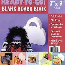 Blank Board Book Scrapbooking  6 Designs  Acid Free Embellish Stamping New
