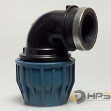 PE Rohr Winkel Verschraubung mit IG in verschied. Größen, DVGW Trinkwasser